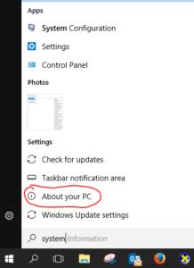 Cara cek spesifikasi Laptop di Windows 10 Menggunakan About Your PC