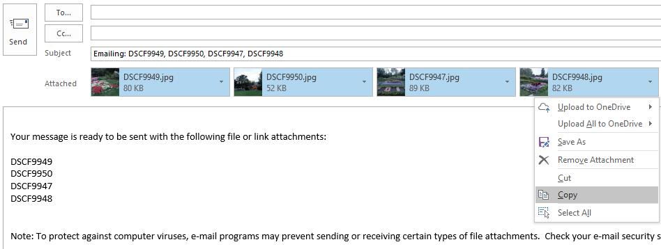 Hasil foto yang sudah dikecilkan ukurannya oleh Outlook pada lampiran email
