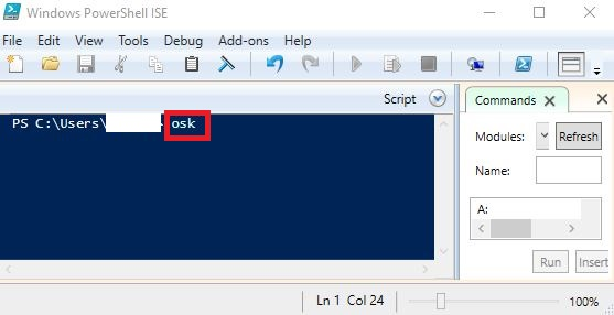 Memunculkan On Screen Keyboard dari Windows Powershell