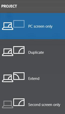 Pilihan dalam menghubungkan laptop ke Proyektor