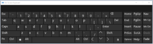 Tampilan On Screen Keyboard Pada Windows 10