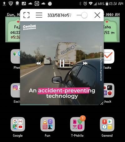 Memutar video pada Android Oreo dengan Fitur Picture In Picture