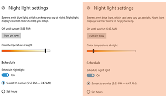 Cara mengaktifkan night light windows 10