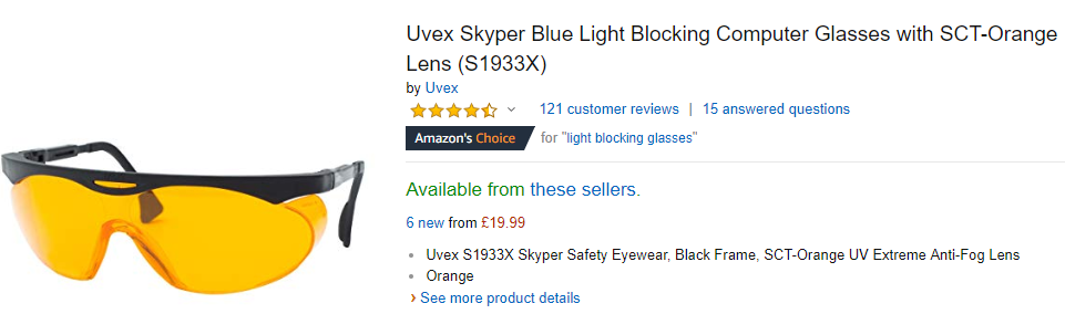 Kacamata khusu untuk melindungi mata dari sinar biru