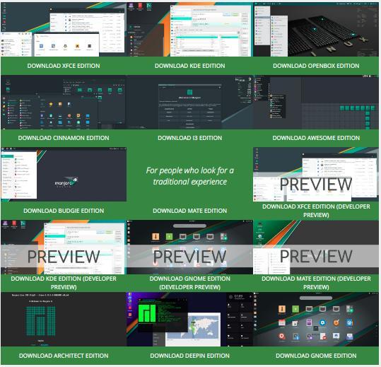 15 Pilihan Desktop Environment Manjaro