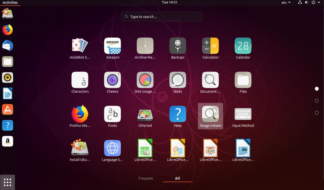 Tampilan Linux Ubuntu 18.10