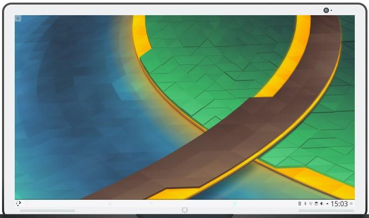 Tampilan Desktop Environment KDE Plasma