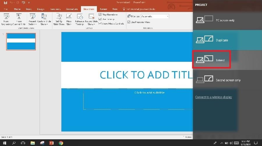 Tekan Windows + P untuk memunculkan Setting ini di Windows 10