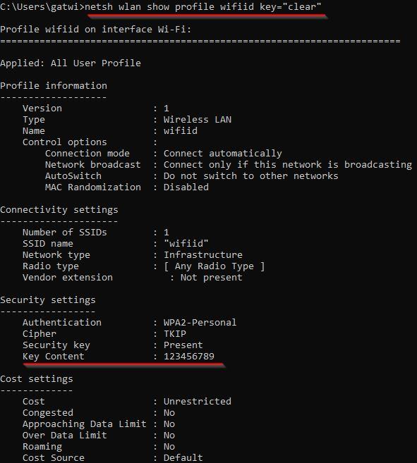 Cara melihat password Wifi di Windows 10 menggunakan command prompt