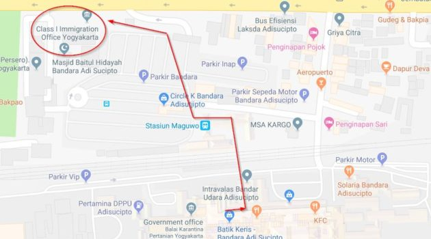 Rute Lokasi Naik Taksi Online di Bandara Adi Sucipto Jogja