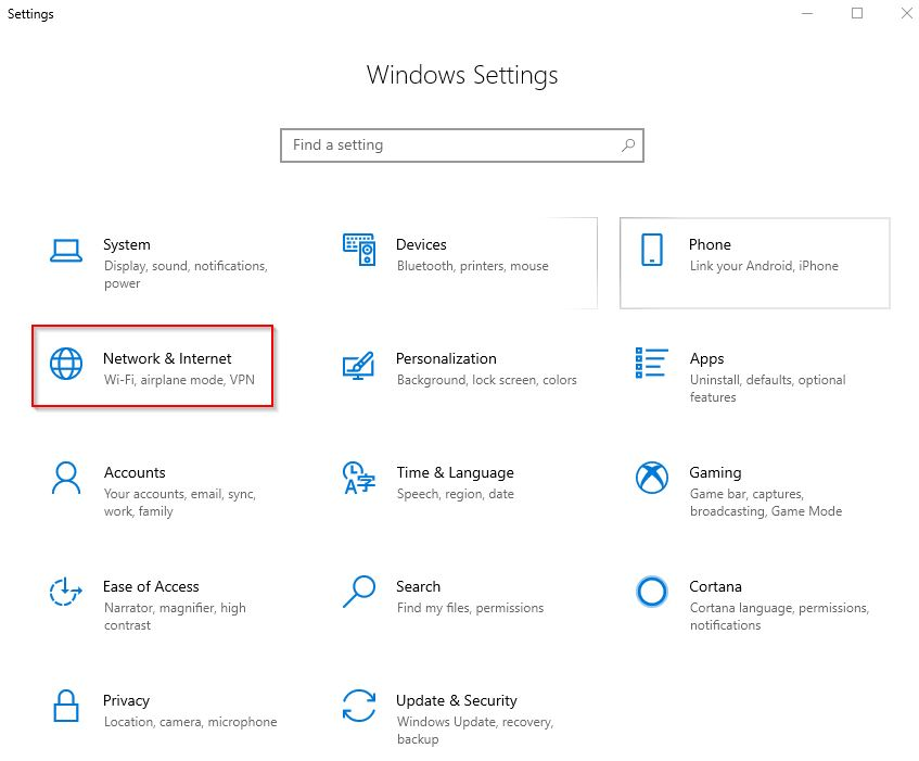 Cara melihat password wifi di WIndows 10 menggunakan setting