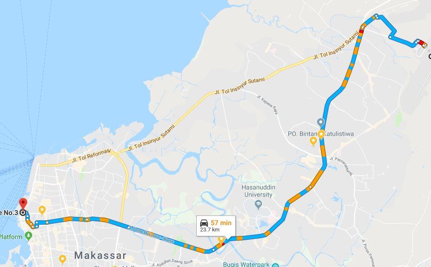 Rute Bus Damri Bandara Sultan Hasanuddin Makassar