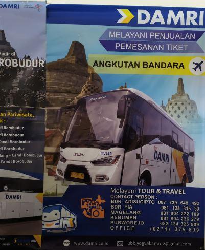 Nomer kontak bus Damri Bandara Yogyakarta