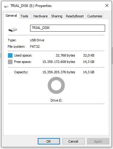 Cara melihat tipe file system dalam USB atau hardisk