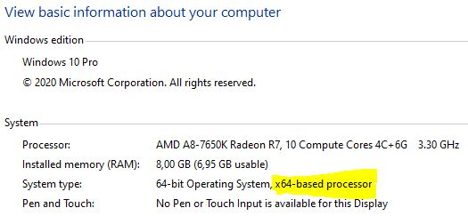 Cek komputer apakah 32 bit atau 64 bit processor