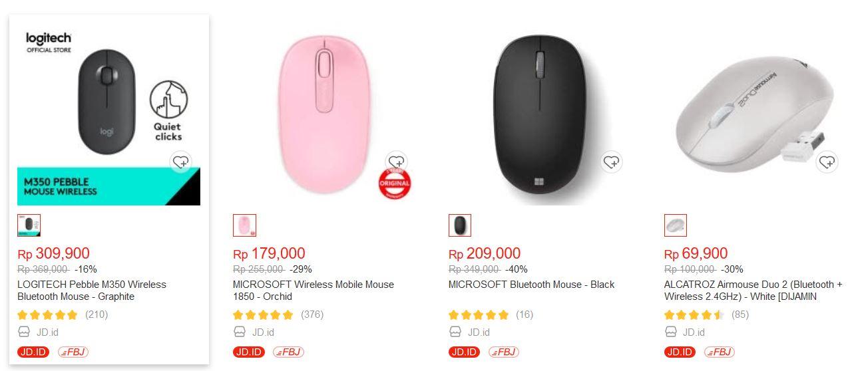Harga Mouse Bluetooth berbagai model