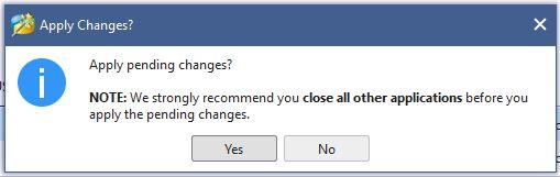 Notifikasi yang muncul setelah klik apply saat menghapus partisi hardisk